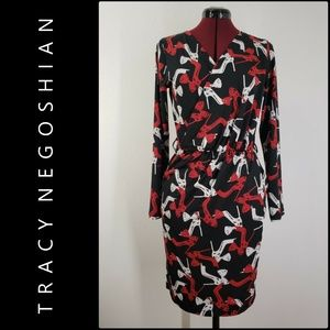 Tracy Negoshian Woman Faux Wrap Dress Size Medium